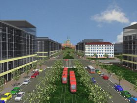 The area of the main train station after planned reconstruction, photo: www.europointbrno.cz