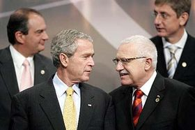 United States President George W. Bush with Czech President Vaclav Klaus, photo: CTK