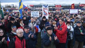Манифестация поддержки президенту Милошу Земану, фото: ЧТК