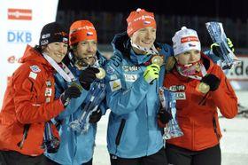 Чешские биатлонисты выиграли медаль (Фото: ЧТК)