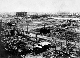 Zemětřesení v Jokohamě 1. září 1923. Foto: Centrální knihovna v Jokohamě, Wikimedia Commons