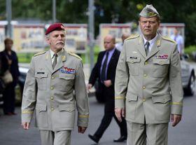 Генерал Петр Павел и начальник Генштаба Чешской армии Йозеф Бечварж, Фото: ЧТК