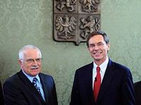 Václav Klaus a Jan Švejnar, foto: ČTK