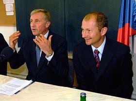 Mirek Topolánek y Petr Zimmermann (Foto: CTK)