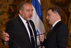 Avigdor Lieberman y Lubomír Zaorálek, foto: ČTK