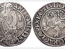 Tolary z Jáchymova, foto: Classical Numismatic Group, CC BY-SA 3.0 Unported