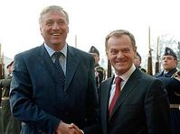 Mirek Topolanek et Donald Tusk, photo: CTK