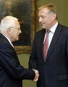 Vaclav Klaus (left) and Mirek Topolanek, photo: CTK