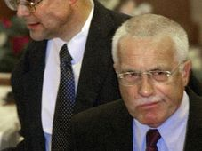 Vladimir Spidla et Vaclav Klaus, photo: CTK