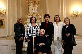 Livie Klausová soceněnými ženami, foto: ČTK