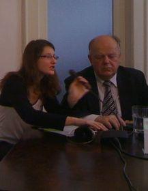 Катержина Шпацова и Станислав Шушкевич (Фото: Мартин Доразин)