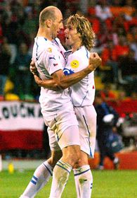 Pavel Nedved and Jan Koller, photo: CTK