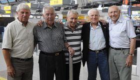 Václav Mašek, Josef Masopust, Josef Jelínek, Jozef Štibrányi, Jiří Tichý, photo: CTK