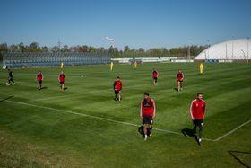 L'entraînement de Dynamo České Budějovice, photo: ČTK/Václav Pancer