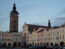 Katedrála sv. Mikuláše v Českých Budějovicích (vpravo od Černé věže), foto: archiv ČRo - Radio Prague International