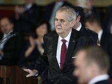 Miloš Zeman während seiner Amtseinführung (Foto: ČTK)