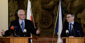 Witold Waszczykowski y Lubomír Zaorálek, foto: ČTK