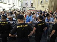 Protests in Prague, July 12 2011, photo: CTK