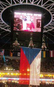 Zahajovací ceremoniál mistrovství světa vledním hokeji vpražské Sazka Areně, foto: ČTK