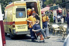 После взрыва на улице На Пржикопе в Праге (Фото: ЧТК)