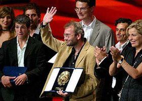Bohdan Slama with the Best Film award at the prestigious San Sebastian film festival, photo: CTK