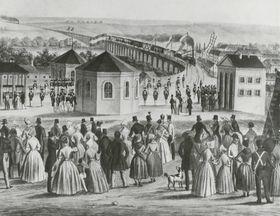 Ab 7. Juli 1839 war Brünn durch die Kaiser-Ferdinands-Nordbahn mit Wien verbunden (Foto: Archiv der Stadt Brünn)