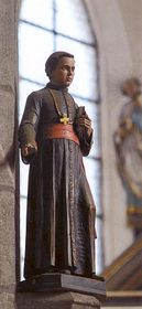Statue of Saint John Neumann in the Church of St. James in Prachatice