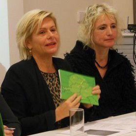 Wanda Moser-Heindl (links). Foto: Archiv der Stiftung Unruhe