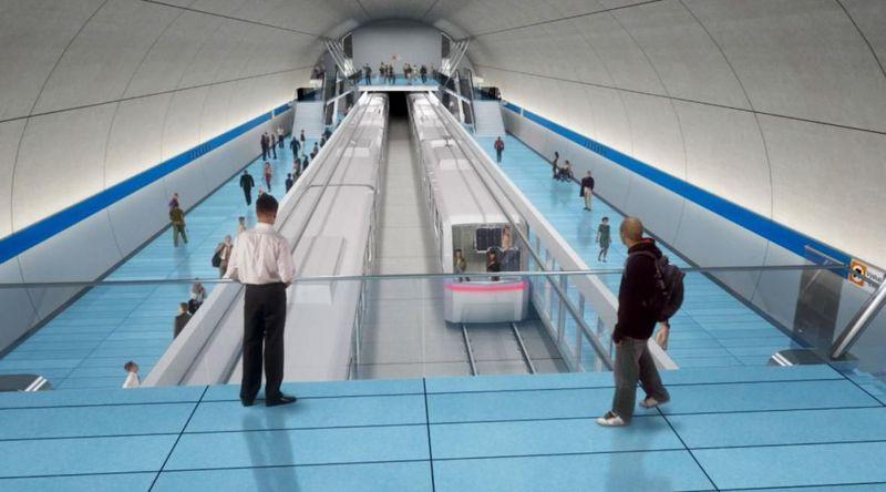 Visualización de la lídea D del metro praguense, fuente: ČT