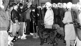 Protest against suffocating air quality in Teplice in 1989, photo: Czech Television