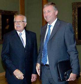 Václav Klaus aMirek Topolánek, foto: ČTK