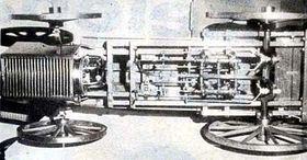 Modelo del vehículo a vapor de Josef Bozek