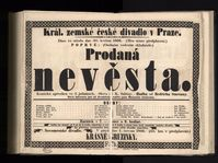 Prodaná Nevěsta premiered at Prague's Provisional Theatre on May 30, 1866, photo: archive of National Museum