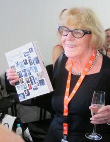 Eva Zaoralová během slavnostního křtu knihy Příběh festivalu, foto: Kristýna Maková / Český rozhlas - Radio Praha