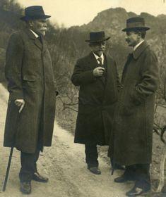 Karel Kramář, Alois Rašín et František Sís du réseau clandestin Maffia, photo: Musée national