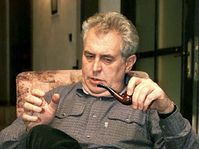 Milos Zeman at his country cottage, photo: CTK