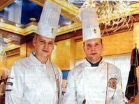 Czech chefs with the Dalis's clocks made of chocolate, photo: Martin Mraz, MFDnes, 13.10.2004