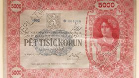 The highest value banknote was the red 5000 note, photo: Aurea Numismatika