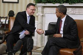Petr Nečas und Barack Obama (Foto: ČTK)
