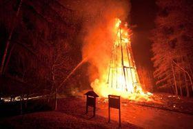 Požár rozhledny Hýlačka, foto: HZS Jihočeského kraje