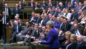 Theresa May im britischen Unterhaus (Foto: ČTK / AP Photo)
