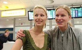 Helena Houdová (a la izquierda) y Mariana Kroftová (Foto: CTK)