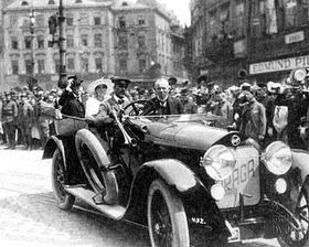 Tomás Garrigue Masaryk y PRAGA Grand (Foto: www.feudal.cz)
