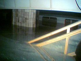 Zaplavená stanice Florenc, foto: Martin Říha