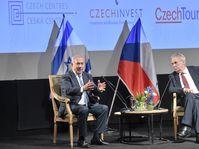 Benjamin Netanjahu a Miloš Zeman v jeruzalémském Českém domě, foto: ČTK / Vít Šimánek