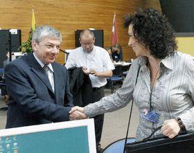 Владимир Железны и Яна Бобошикова (Фото: ЧТК)
