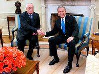 Czech president Vaclav Klaus with US President George Bush, photo: CTK