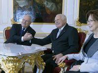 Ivan Gašparovič et Václav Klaus, photo: CTK