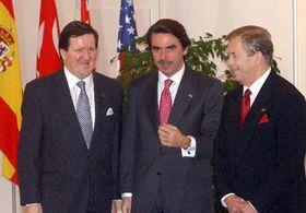 George Robertson, José María Aznar y Václav Havel, foto: CTK