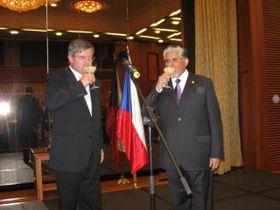 Viceministro Milan Hovorka y embajador José Luis Bernal